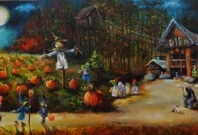 Bobby's Moonlit Halloween 18x36x1.5 2016 SOLD