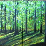 Green Sunlit Forest