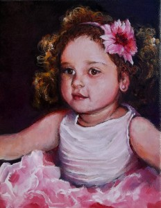Girl with a Pink Earring 8x10 2014 A Portrait of Embry 3 years old by Gramma (994x1280)