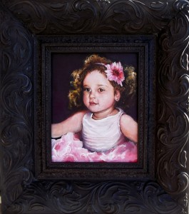 Girl  with a Pink Earring 8x10 Framed 2014  (1133x1280)