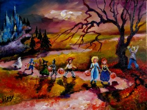 Princesses and Spooks on Al Hallows Eve 12x16 2014 (1280x964)