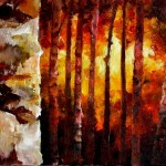 Sunset Birch Forest 16x40x1.5 2013 (1024x415)