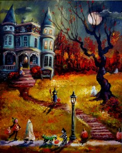The Old Manor Had a Greenish Glow This Trick or Treat 16x20 2014 (1023x1280)