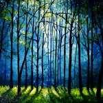 Blue Mist Morning Forest