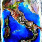 for auntlizzy the family italy map 30x40 2008 for markie akins