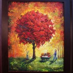 joy under the red tree 16x20 framed 2010 donation for matrix lifeline pregnancy center