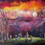 trick or treat in tangled tree forest 24x48 2010 exhibit