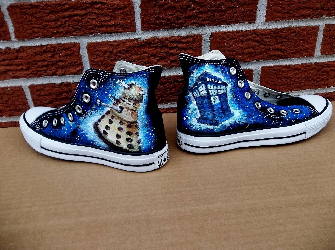 shoe art  fan art featuring marvel comics u2019 nightcrawler