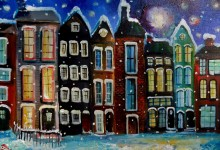 Winters Magic Moonlit Night  SOLD