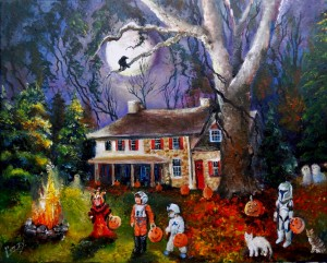 Jackies Moonlit Halloween 16x20 2015 (1024x823)