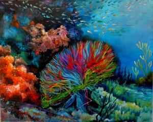 Cranial Coral 16x20x1.5 2015 Laura (1024x819)