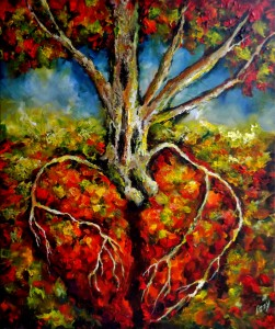 Cardiac Roots. Dedicated to the community of Roseburg. Our hearts are with you. by Lizzy Rainey 2015 (1073x1280)