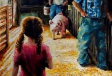 "Hoosier Women Artist Winner 2016 ""Sunlit Piggy Tails""  at the Tippecanoe County Fair"