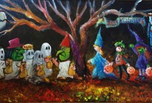 """A Jolly Halloween""  10x20 2016 sold"