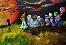 "By the Light of the Halloween Moon"" 10x20 2016,  SOLD"