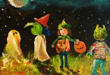"""Starlight Trick or Treat"" For Sale Now on eBay. Use contact form to commission your own Trick or Treater painting."