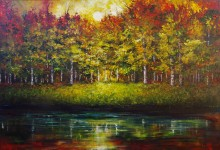 Reflections of an Autumn Woods 24x36 2016 SOLD