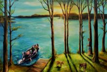 Sunset on Raccoon Lake  36x48x1.5 inch SOLD