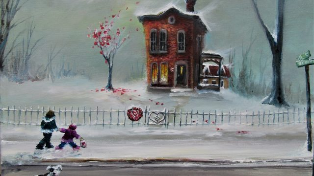 Valentine House 16x20 2019 For Sale on ebay