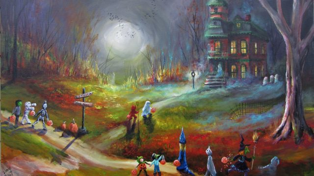 """Misty Manor"" 24x36x1.5   Sold"