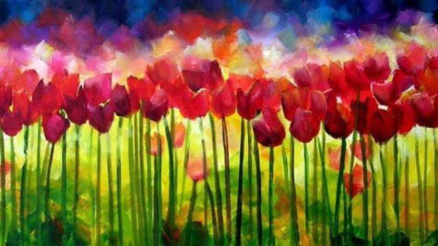 """""""Burst of Spring"""" sold"""