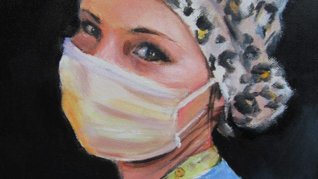 Medical Portraits Fighting COVID19 virus 2020