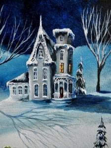 Moonlit Gingerbread House