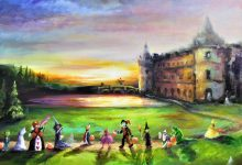 """FOR SALE on Fine Art America. Prints of """"Sunset Trick or Treat at the Old Castle"""" 2020  and others."""